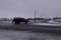 Более полусотни машин чистят дороги Днепропетровщины от снега