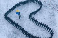 В Днепре 100 курсантов создали живое сердце (ФОТО)