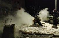 В Вольногорске на временной остановке загорелся автомобиль
