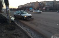 ДТП в Кривом Роге: столкнулись маршрутка и легковушка (ФОТО)