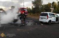 В Павлограде, вследствие ДТП загорелся мотоцикл: водитель скончался на месте