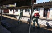 На Днепропетровщине спасатели осуществили санитарную обработку территории рынка (ВИДЕО)