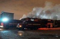 В АНД районе Днепра горел гараж: огнём уничтожено 150 кв. метров