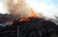 В Павлоградском районе горел склад бытовых отходов