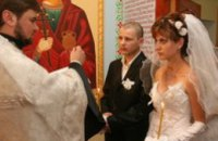 Впервые в Днепропетровской области в тюремном храме прошла церемония венчания