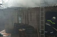 На Днепропетровщине произошел пожар на территории частного дома