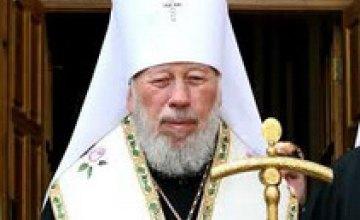 Митрополит Владимир впервые отслужил литургию после болезни