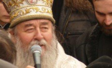 Владыка Ириней совершил обряд крещения Днепра