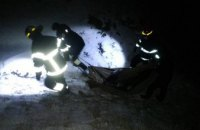 На Днепропетровщине 2 человек пересекая реку Каменку, провалились под лёд