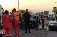 В Днепре в результате ДТП погиб полицейский, еще двое получили травмы (ФОТО)