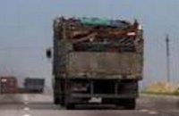 В Днепропетровской области полиция задержала водителей, которые перевозили металлолом без документов