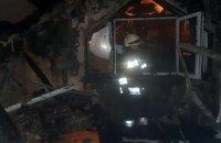 В Днепре загорелся двухэтажный жилой дом: огнем уничтожено 100 кв. метров