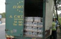 В Днепропетровске ГАИ задержала грузовик с «левой» водкой