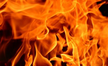 В Днепре произошел масштабный пожар в ангаре: огонь уничтожил 350 кв. м.