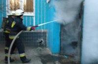 В Днепре в десятиэтажном жилом доме загорелся мусоросборник (ФОТО)