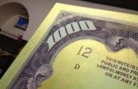 Днепропетровская художница рисует банкноты американских долларов на огромных холстах