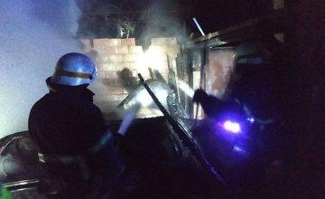 На Днепропетровщине сгорел гараж вместе с автомобилем: владельца госпитализировали (ФОТО) (ВИДЕО)