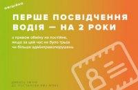 Теперь первое водительское удостоверение в Украине будут выдавать только на 2 года