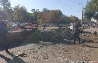В Днепре на проспекте Б. Хмельницкого взорвался автомобиль: двое погибших