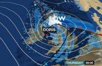 На Великобританию обрушился шторм Дорис