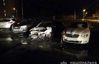 В центре Харькова на стоянке сгорело 3 автомобиля