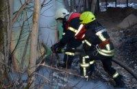 В Самарском районе Днепра сгорел склад (ФОТО, ВИДЕО)
