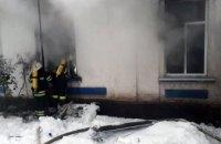 В Днепропетровской области горел жилой дом барачного типа