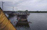 На Днепропетровщине во время движения фуры обрушился автомобильный мост (ФОТО. ВИДЕО)