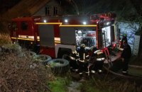 В Самарском районе горел одноэтажный дом: повреждена крыша