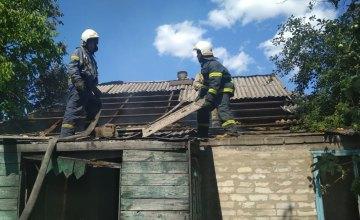 На Днепропетровщине произошел пожар в заброшенном доме