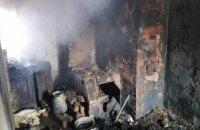 В Днепропетровской области во время ликвидации пожара обнаружено тело хозяина дома