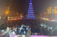 Более 7,5 тысяч людей встретили Новый Год в центре Днепра