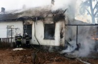 На Днепропетровщине при пожаре жилого дома погиб мужчина