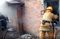 Спасатели ликвидировали пожар в одноэтажном жилом доме Никополя
