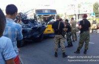 В Тернополе броневик протаранил троллейбус (ФОТО)