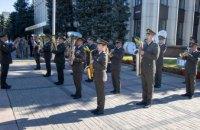 У Днепропетровской ОГА торжественно подняли Государственный Флаг Украины (ФОТОРЕПОРТАЖ)