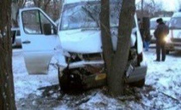 Вследствие ДТП в Кривом Роге пострадали 6 пассажиров маршрутки