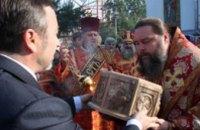В День города в Никополь прибыли мощи святого Никиты, привезенные с Кипра