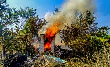 В Вольногорске горели дачные участки