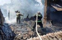 В Криворожском районе горел жилой дом: огонь уничтожил крышу (ФОТО)