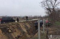 ДТП на Днепропетровщине: Hyundai Elantra слетел в канаву (ФОТО)
