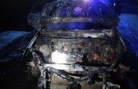 В Петропавловском районе на ходу загорелся внедорожник (ФОТО)
