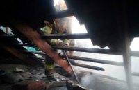 Рано утром в Никополе сгорел жилой одноэтажный дом (ВИДЕО)