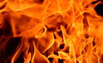 На Днепропетровщине во дворе сгорела легковушка