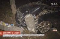 В Днепре пьяная женщина врезалась на автомобиле в столб (ВИДЕО)