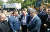 Порошенко проинспектировал ход строительства объездной дороги в Днепре (ФОТОРЕПОРТАЖ)