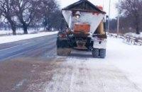 На Днепропетровщине снова пошел снег: работает 87 единиц спецтехники