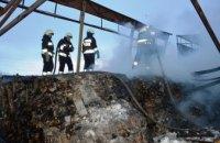 В АНД районе Днепра сгорел картонный склад (ВИДЕО)