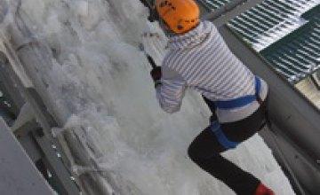 В Днепропетровске прошел Первый открытый фестиваль по ледолазанию