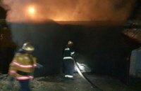 В Кривом Роге загорелся гараж в кооперативе «Звездный»